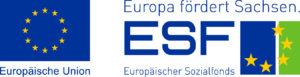 """Logos Europäische Union und Europäischer Sozialfonds """"Europa fördert Sachsen"""""""